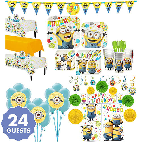 Gallery Of Paw Patrol Party Wall Decorations 5pc Minions Tableware Ultimate Kit For 24 Guests
