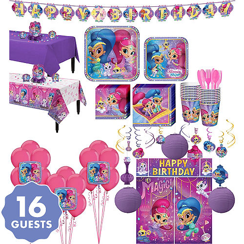 Shimmer And Shine Tableware Ultimate Kit For 16 Guests