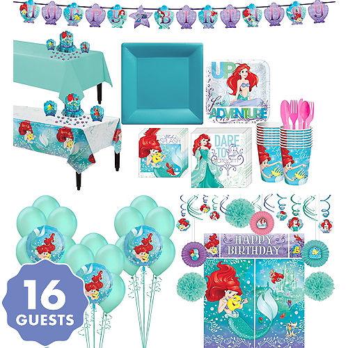 Little Mermaid Tableware Ultimate Kit For 16 Guests