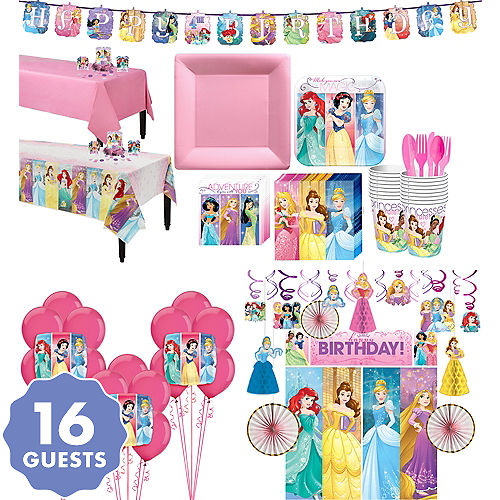 Disney Princess Tableware Ultimate Kit For 16 Guests