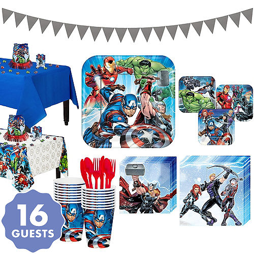 Avengers Tableware Party Kit For 16 Guests