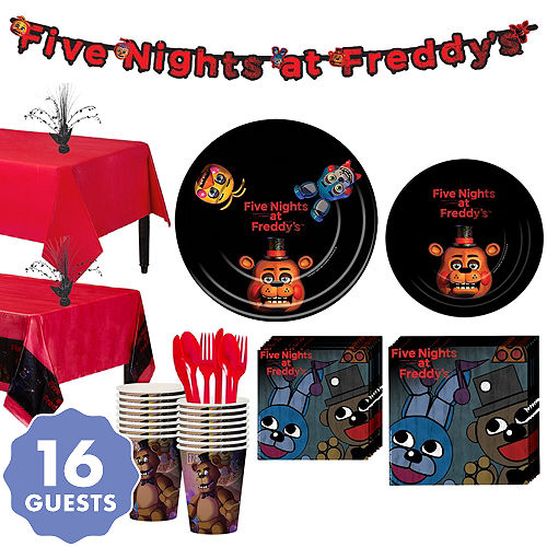 Five Nights At Freddys Tableware Party Kit For 16 Guests