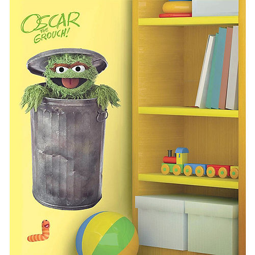 Oscar The Grouch Wall Decals 5pc