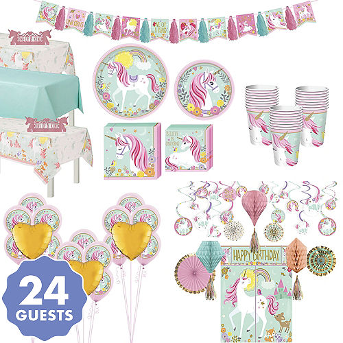 Magical Unicorn Tableware Ultimate Kit For 24 Guests