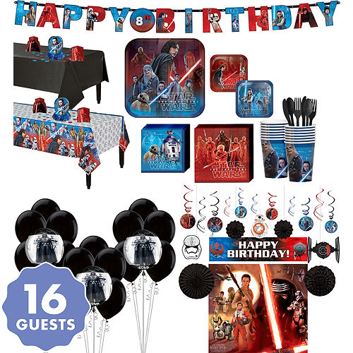 Star Wars 8 The Last Jedi Ultimate Party Kit For 16 Guests