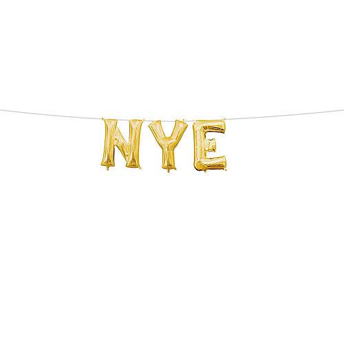 air filled gold nye letter balloon kit