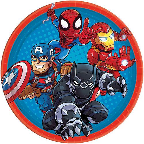 Marvel Super Hero Adventures Lunch Plates 8ct