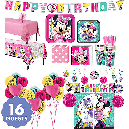 Minnie Mouse Ultimate Party Kit For 16 Guests