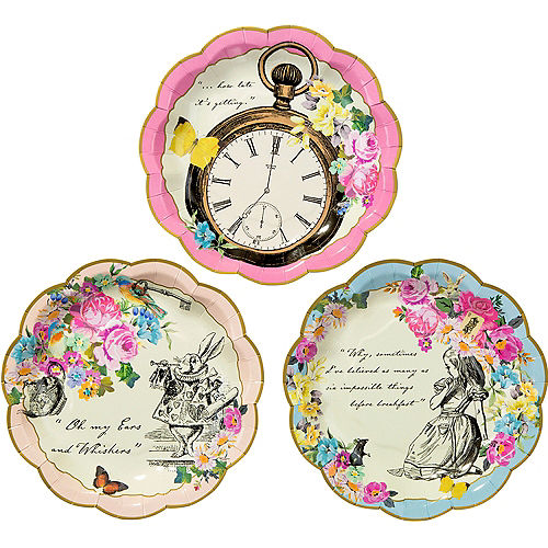 Alice In Wonderland Dessert Plates 12ct
