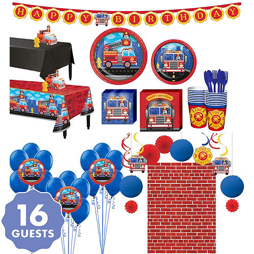 Fire Truck Ultimate Party Kit For 16 Guests