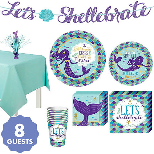 Wishful Mermaid Basic Party Kit For 8 Guests