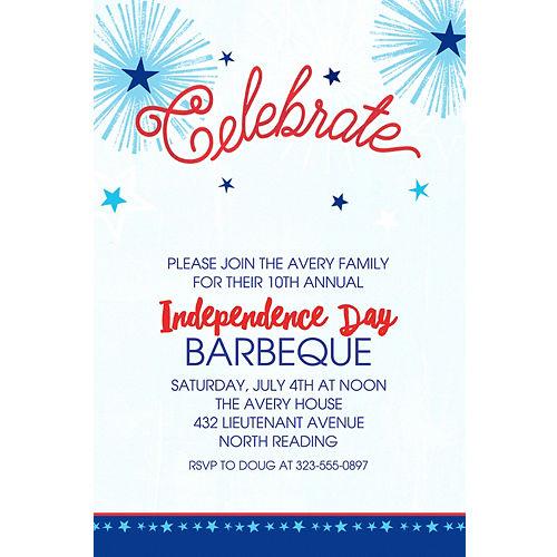 4th of july invitations patriotic invitations party city