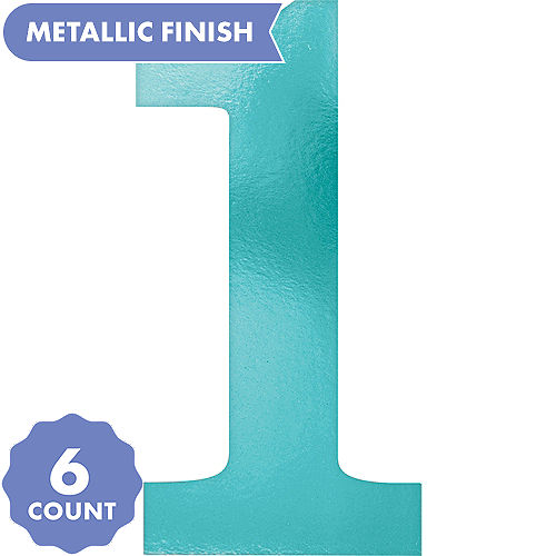 Metallic Blue Number 1 Cutouts 6ct