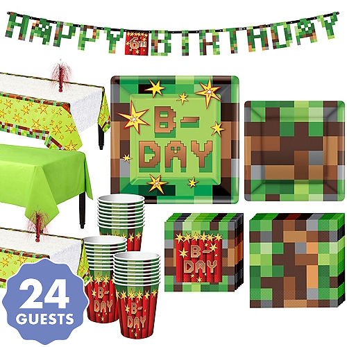 6b4da90d94 Pixelated Basic Party Kit for 24 Guests
