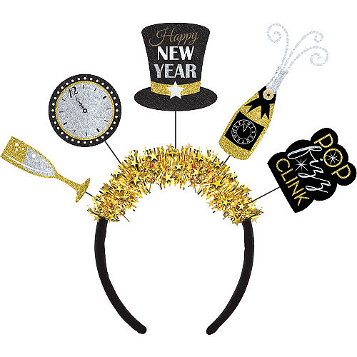 glitter new years eve headband