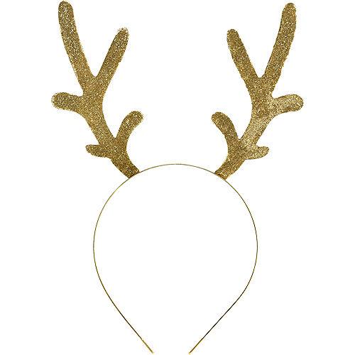 3f87be39176fb Adult Glitter Gold Antlers Headband