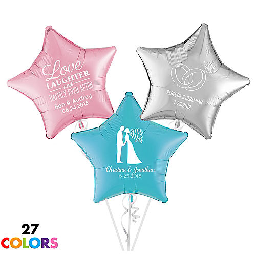 Personalized Wedding Star Balloon