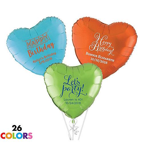 Personalized Happy Birthday Heart Balloon