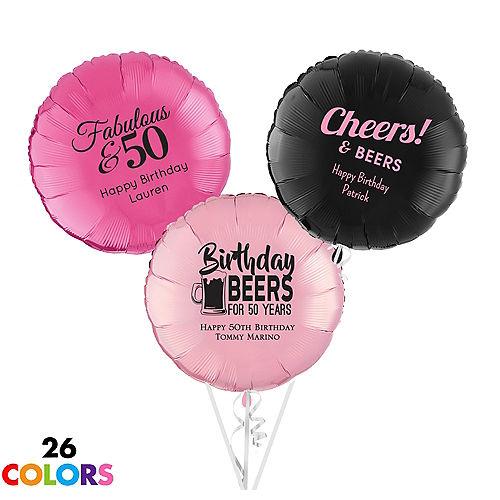 Personalized Milestone Round Balloon