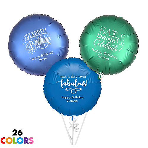 Personalized Happy Birthday Round Balloon