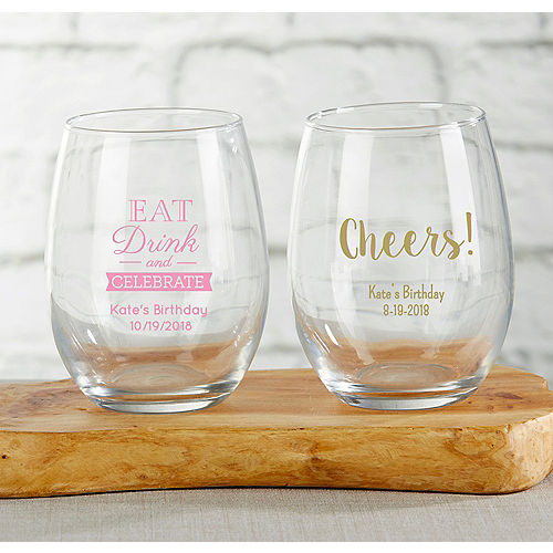 Personalized Glassware Personalized Tableware Party City