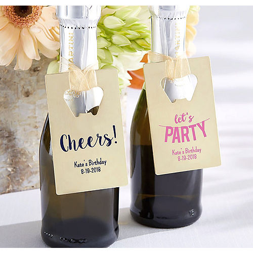 Personalized Credit Card Bottle Openers