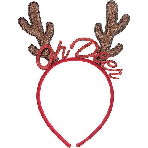 5e6fdb1b9094c Glitter Oh Deer Reindeer Headband