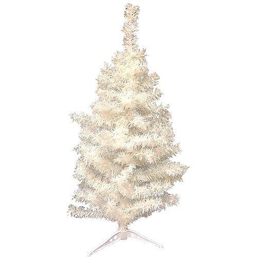 white tinsel christmas tree - White Mini Christmas Tree
