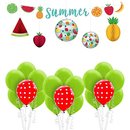fruit theme hanging decorating kit
