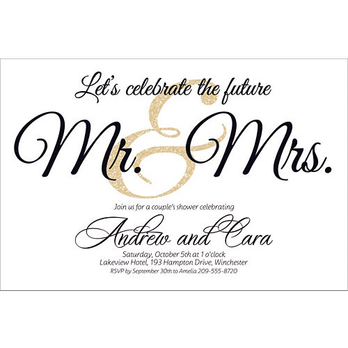 custom future mr mrs invitations