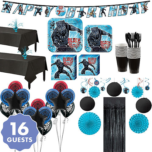 Ultimate Black Panther Party Kit For 16 Guests