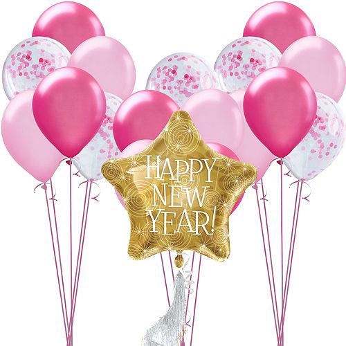 Pink Confetti Balloon Kit