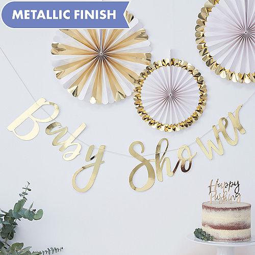 Ginger Ray Metallic Gold Baby Shower Letter Banner