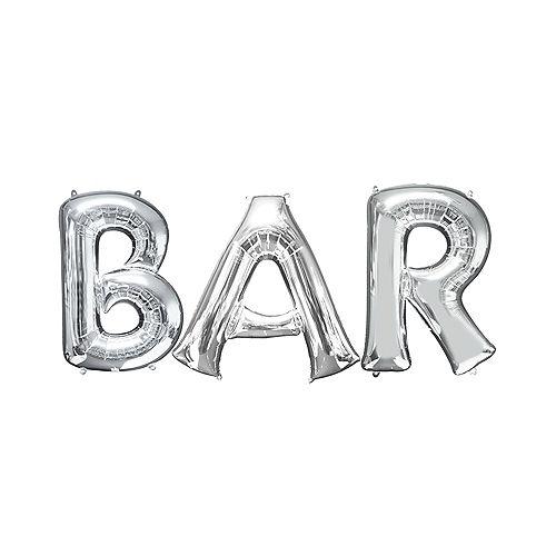 giant silver bar balloon kit