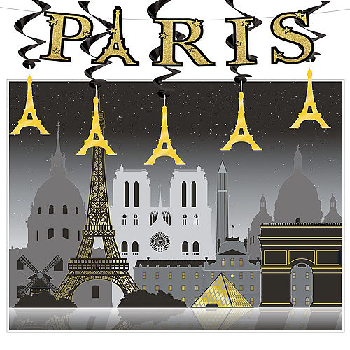 Black Gold Paris Decorating Kit