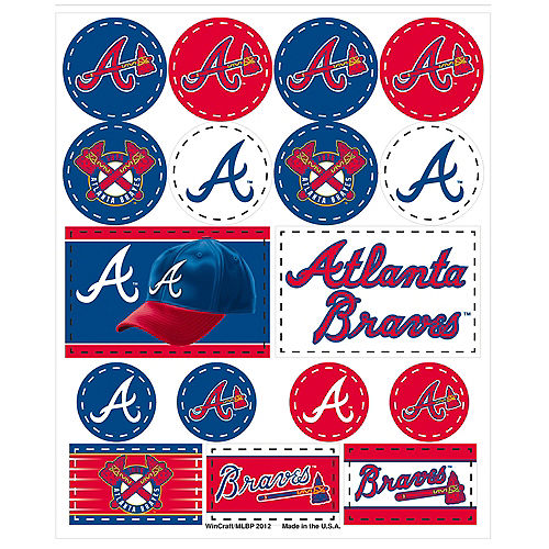Atlanta Braves Stickers 1 Sheet