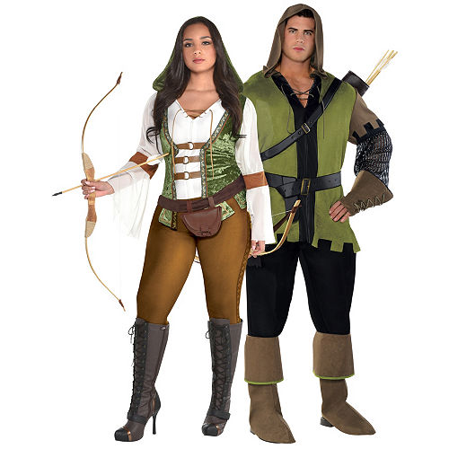 adult robin hood couples costumes plus size