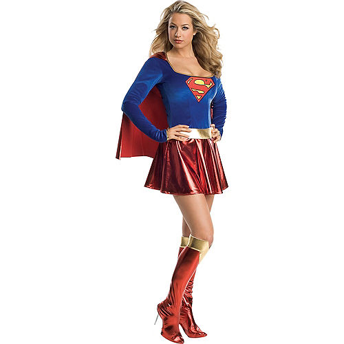 Adult Classic Supergirl Costume - Superman